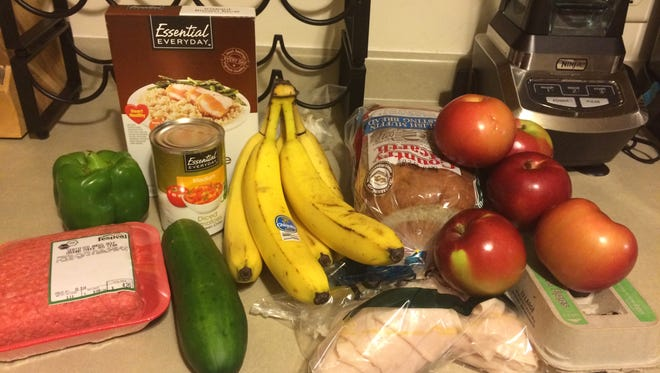 Food for five days of the Marshfield Area United Way SNAP Challenge.