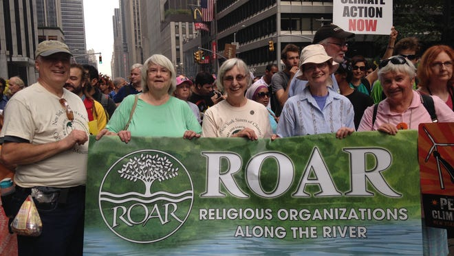 Members of ROAR at the People's Climate March on Sept. 21 in New York City.