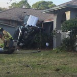 Man injured after SUV hits house in Palm Bay