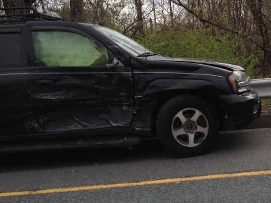 Accident scene on Del. 141 at Airport Road