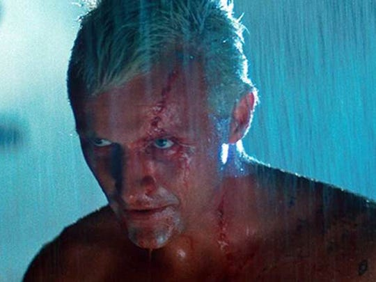 """Rutger Hauer, playing the replicant Batty in """"Blade Runner"""" (1982), delivered a very memorable speech in the rain. Do the same on Saturday."""