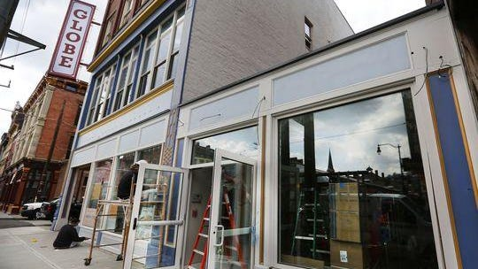 A look at the Globe building on Elm Street, across from Findlay Market.