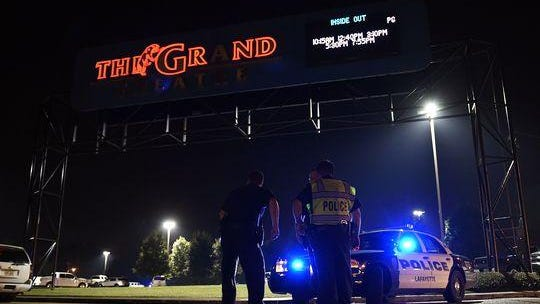 The Grand 16 Theater was the scene of a shooting that left three people dead Thursday night.