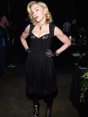 Madonna attends Keep A Child Alive's 11th Annual Black Ball at Hammerstein Ballroom on Oct. 30, 2014, in New York.