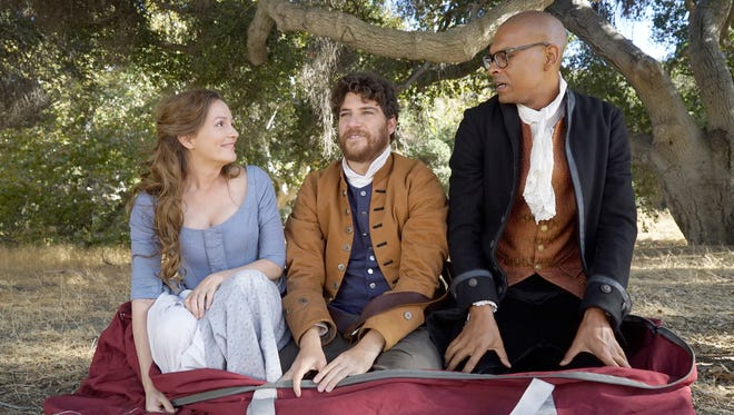 Leighton Meester, Adam Pally and Yassir Lester in Fox's 'Making History.'