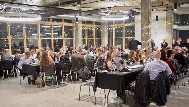 Guests gathered at the Block One event space on Saturday, December 31, 2016 for Eat+Drink's December Secret Supper featuring a menu and drink pairings by John Lawyer and Juli Y Juan.