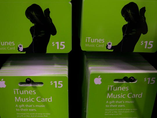 iTunes song gift cards