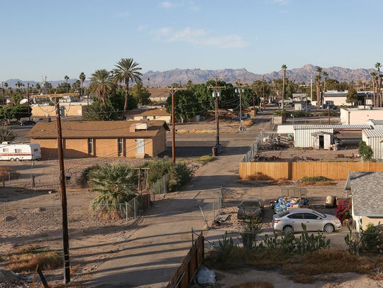 Blythe is surrounded by farmland along the I-10 freeway