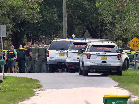 Brevard County Sheriff's Office on the scene of a shooting in Canaveral Groves on Thursday.