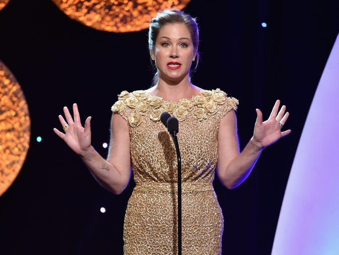 Actresses Christina Applegate speaks onstage during the 4th Annual Critics' Choice Television Awards at The Beverly Hilton Hotel on June 19, 2014, in Beverly Hills, Calif.