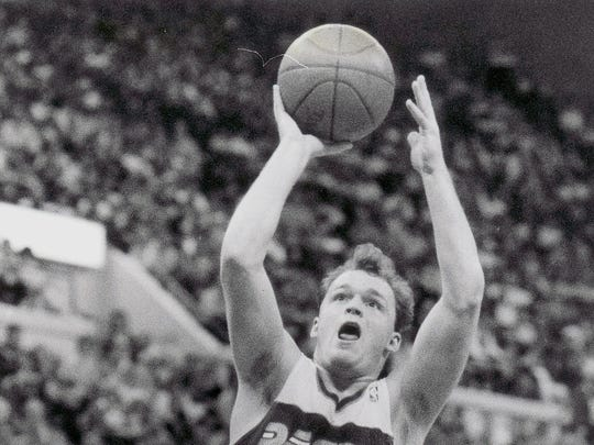 Pacers guard Scott Skiles goes up for two of his 10 points against the Celtics. Mike Fender photo March 16, 1988