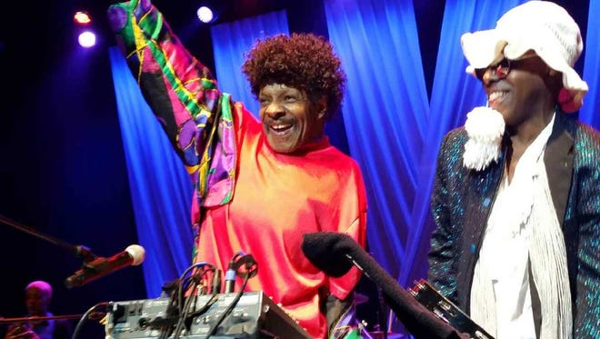 Sly Stone and Alex Davis of the Family Stone at the Count Basie Theatre in Red Bank on Sunday, Aug. 23.