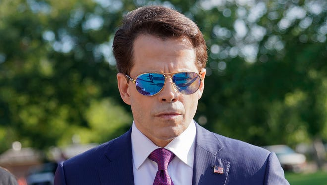White House communications director Anthony Scaramucci walks back to the West Wing of the White House on July 25, 2017.
