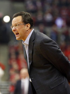 Joe Maiorana/USA TODAY Sports Coach Tom Crean and Indiana played at Georgia Tech in the National Invitation Tournament on Tuesday night. The Yellow Jackets led 41-40 early in the second half at press time. Mar 4, 2017; Columbus, OH, USA; Indiana Hoosiers head coach Tom Crean during the second half against the Ohio State Buckeyes at Value City Arena. Indiana won 96-92. Mandatory Credit: Joe Maiorana-USA TODAY Sports