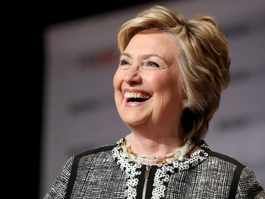 Former secretary of state and Democratic presidential candidate Hillary Clinton at BookExpo 2017 at the Javits Convention Center in  New York.