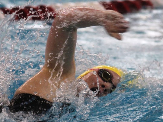 Notre Dame junior Sophie Skinner swims the 200 freestyle