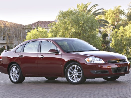 General Motors just recalled six more models for ignition switch issues. Here they are, starting with the 2006 to 2014 Chevrolet Impala. Shown here is the 2009 model.