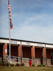 "Stone County High School in Wiggins, Miss., is seen Monday, Oct. 24, 2016. The state NAACP says white students at Stone County High School threw a noose around the neck of a black student and ""yanked backward"".  Ayana Kinnel, spokeswoman for the civil-rights group, says Monday that the incident took place the afternoon of Oct. 13 at the Stone County High School field house in Wiggins. The civil-rights group is calling on the school to expel the white students."