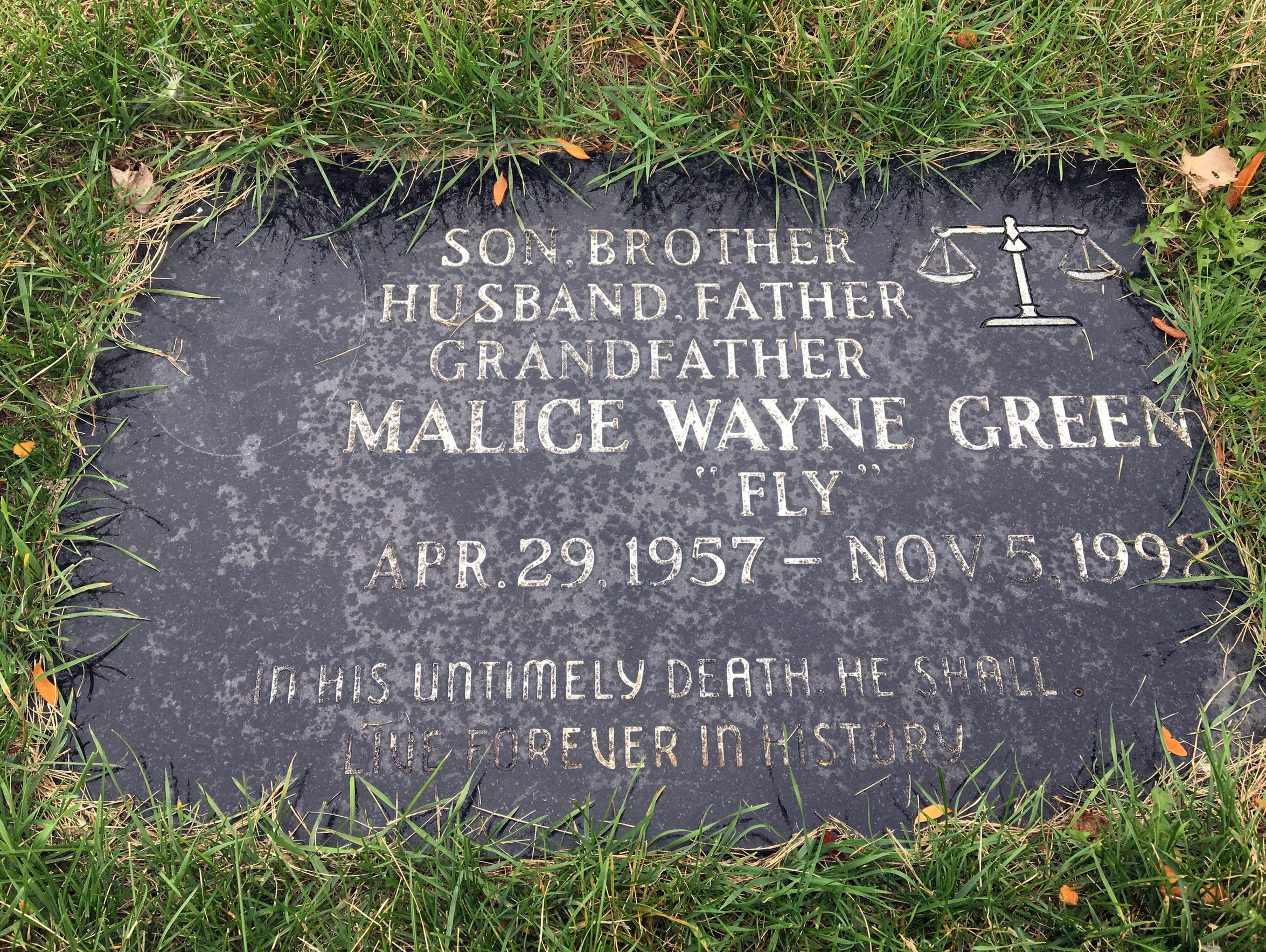 The gravesite of Malice Green, 35, is in the Lincoln