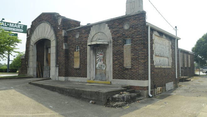 The historic firehouse on Gallatin Avenue is pictured before Karen Goodlow started her restoration.