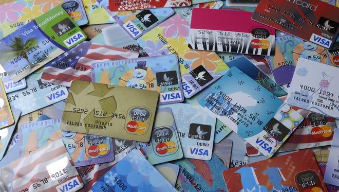 Sample prepaid cards from MetaBank.