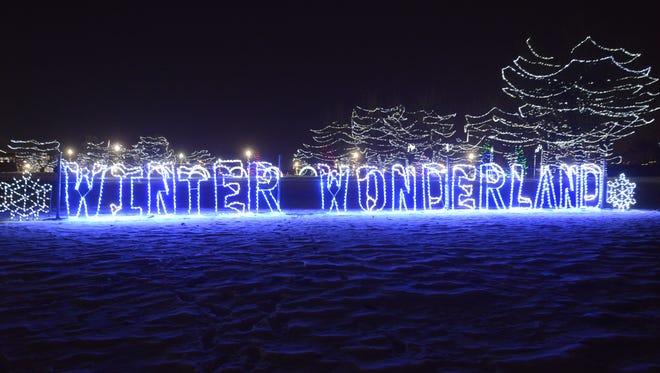 Winter Wonderland at Falls Park in 2014.