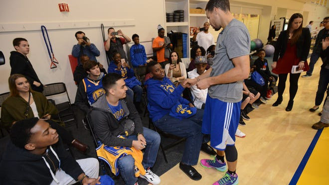 Lehigh Acres resident Fletcher Burch, Jr. had his wish of meeting Golden State Warriors star Stephen Curry granted by the Make-A-Wish Foundation last week.