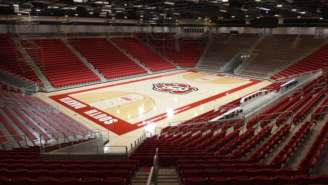 Inside the Sanford Coyote Sports Arena in Vermillion on Friday.