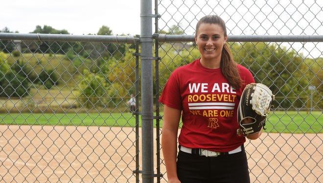 Sioux Falls Roosevelt senior pitcher Lexi Koltz.