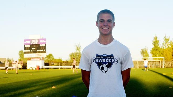 Sioux Falls Christian midfielder Derek Zevenbergen