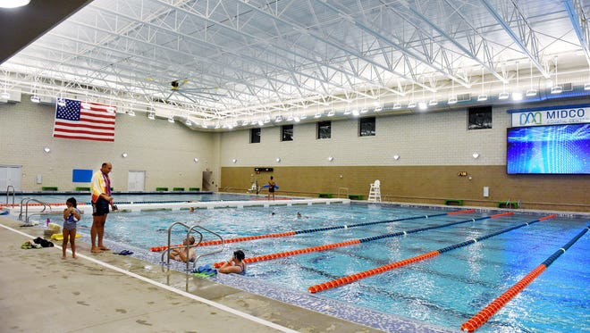 Opening day at the Midco Aquatic Center on Thursday, Oct. 13, 2016.