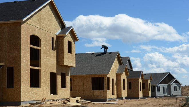 Construction continues in the Winter Farm subdivision in Windsor on Wednesday, May 3, 2017. Home prices are increasing so much, that the state is lowering the percentage of values that it taxes.
