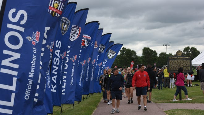 The US Youth Soccer Regional II Championships being held in Sioux Falls from June 23-28 brought teams from associations in more than a dozen states: Illinois, Indiana, Iowa, Kansas, Kentucky, Michigan, Minnesota, Missouri, Nebraska, North Dakota, Ohio, South Dakota and Wisconsin.