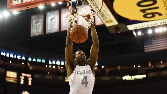 Forward Jalen Hayes is one of four redshirt seniors on Oakland's roster.