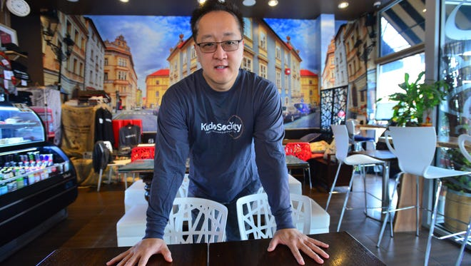 Jeffrey Ryu, owner of Kudo Society Café in Palisades Park, sees benefits in North Korea's participation in the Olympics.