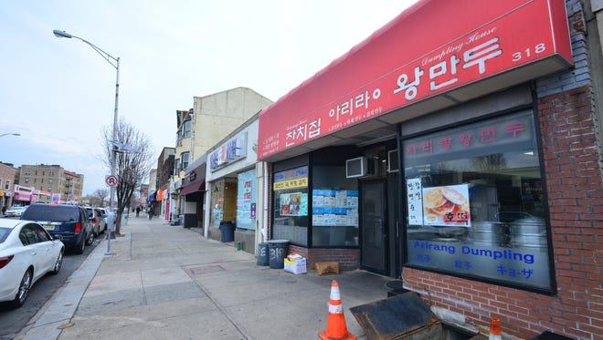 Korean stores on Bergen Boulevard in Palisades Park.