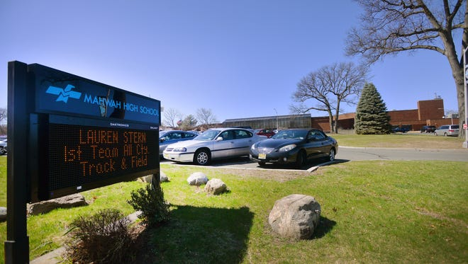 A view of Mahwah High School. Last year, a student made a threat against a Mahwah school that apparently was determined not to be credible. School officials must quickly decide whether to close a school and notify parents when there is a possible threat.