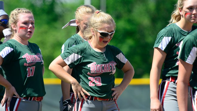 Senior Seree Petersen played her final game for Oak Harbor in a regional semifinal Thursday.