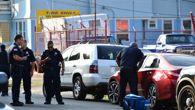 Paterson police are investigating after a man was found shot in a Nissan Altima on Park Avenue Friday morning.
