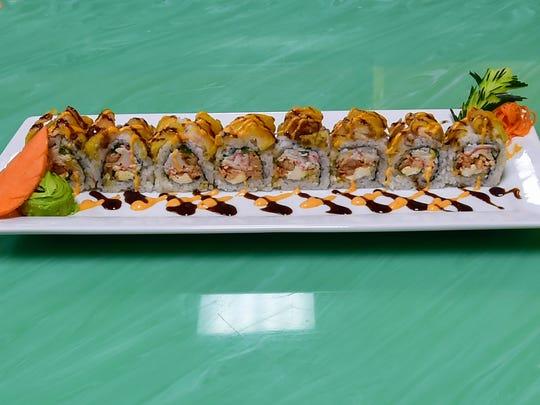Ragin' Cajun roll from Ichiban Asian Cuisine, 6772