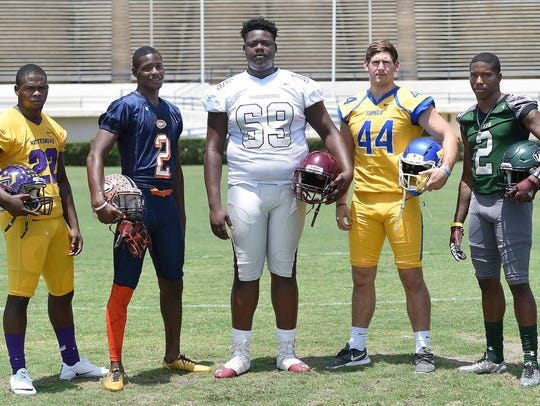 Mississippi State signees (from left) Fabian Franklin,