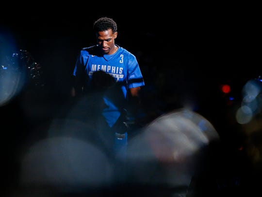 Tiger Jeremiah Martin during Memphis Madness at the FedExForum Wednesday, Oct. 12, 2017.