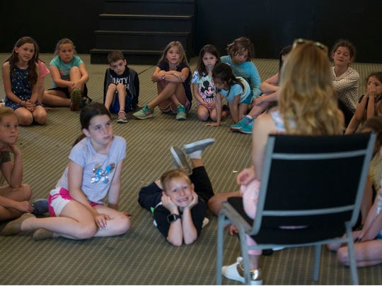 """Broadway star Kerry Butler, currently starring in """"Mean Girls"""" meets with campers from Seashore Theater Camp in Long Branch. Long Branch, NJWednesday, June 27, 2018@dhoodhood"""