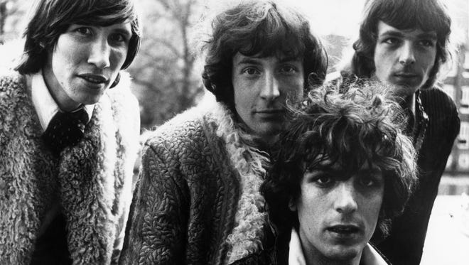 Members of the psychedelic pop group Pink Floyd, from 1967. Pictured are Roger Waters, from left, Nick Mason, Syd Barrett and Rick Wright.