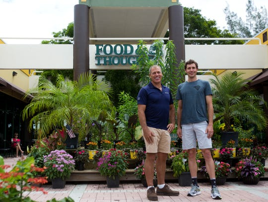 Owner of Food and Thought Alfie Oakes, left, poses
