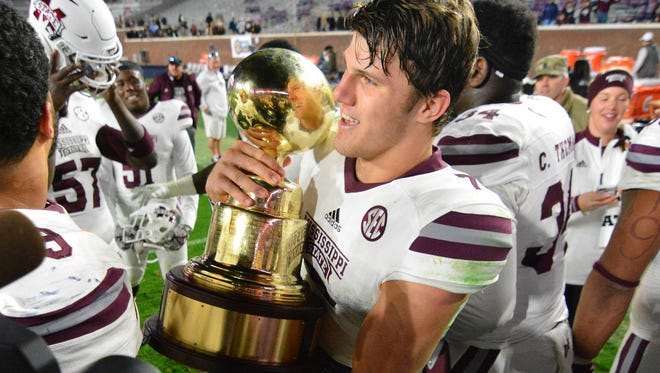 Mississippi State quarterback Nick Fitzgerald was benched in Week 1 but won the Egg Bowl with a record performance.