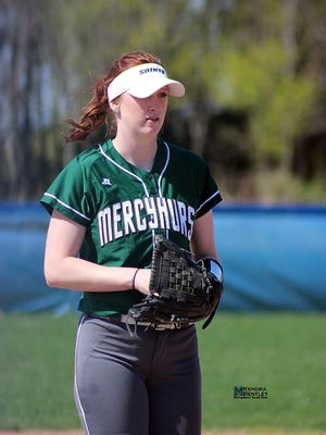 Genoa graduate Lea Theisen helped Mercyhurst North East advance to the national softball tournament the last two years.