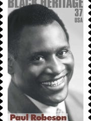The U.S. Postal Service stamp honoring Paul Robeson.