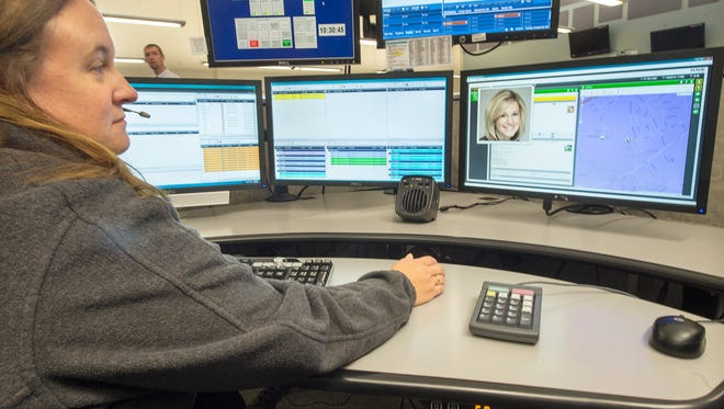 The York County Department of Emergency Services' 911 dispatching center is equipped with chairs designed to withstand constant use for eight years.