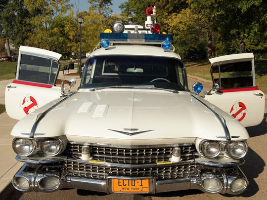 """Loren Baldwin's replica of the Ecto-1 from the film """"Ghostbusters"""" is a  1959, 7,300 pound, converted Cadillac ambulance."""